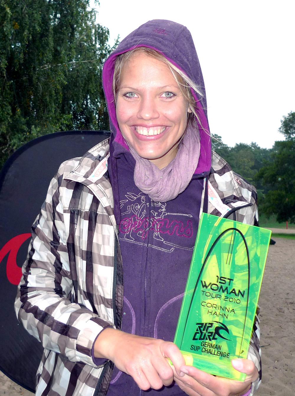 tour siegerin corinna hahn Rip Curl German Sup Challenge 2010 feiert seine Sieger