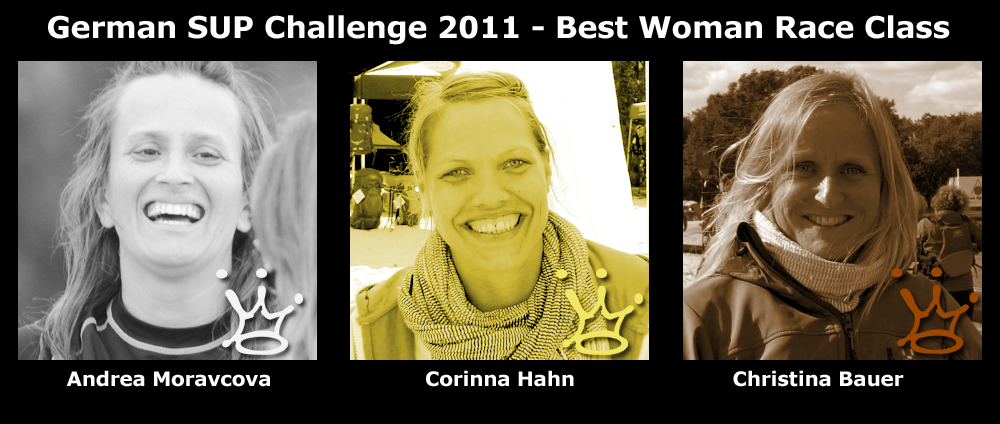 gsc crown woman race - Smiling Faces - Die Tourleader der Superflavor German SUP Challenge 2011