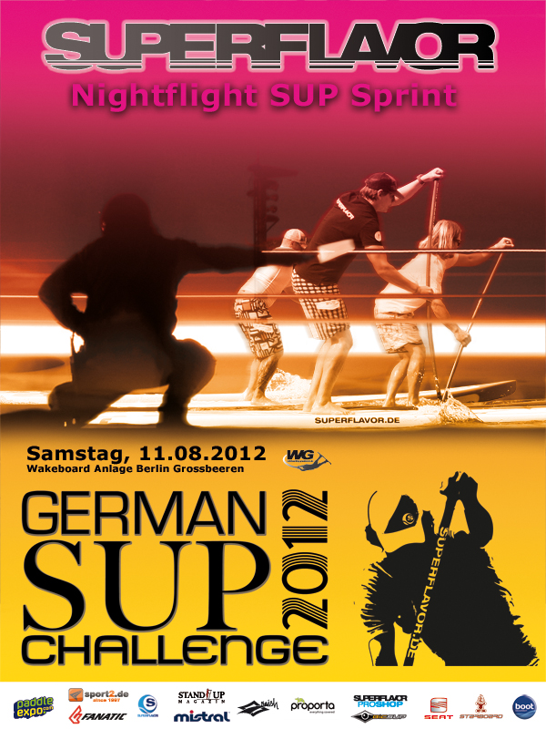 gsc nightflight 2012 - KILLERFISH Hot Energy wird Titel-Sponsor der German SUP Challenge 2014