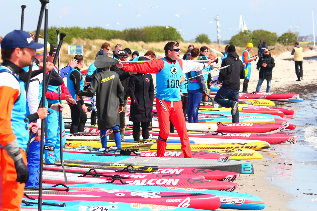 Killerfish German SUP Challenge 2015 117 - Beach Action beim Saisonstart der Killerfish German SUP Challenge 2015 auf Fehmarn